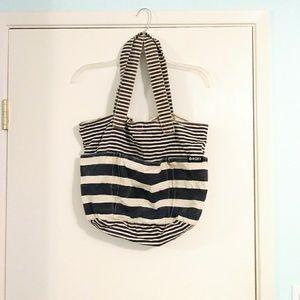 Roxy Striped Tote Beach Bag